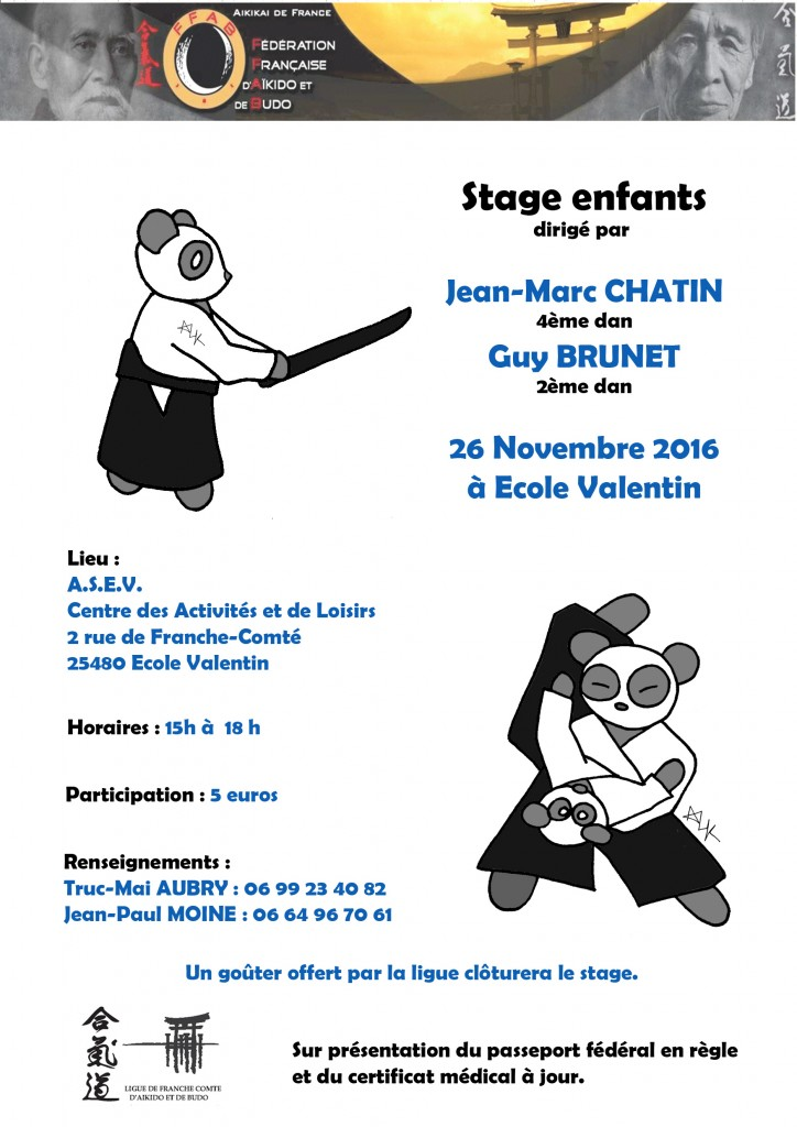 affiche stage enfant hiver 2016 copie2 aikido ligue de franche comt ffab. Black Bedroom Furniture Sets. Home Design Ideas